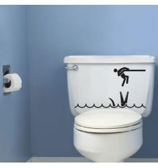 Sticker WC Crocodile