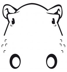 Sticker WC Hippopotame