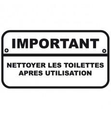 Sticker WC Important