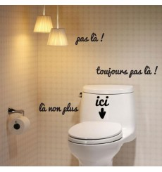 photo stickers muraux wc pas cher