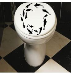 Sticker WC poissons