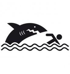 Sticker WC Requin