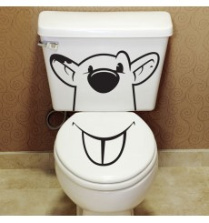 Sticker WC Souris