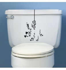 Sticker WC Ver suspendu