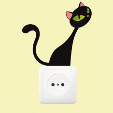 Sticker Prise chat à l'affut