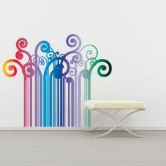 Sticker Code barre multicolore