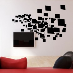 Sticker Cubes flottants