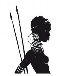 Sticker Africaine