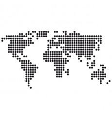 Sticker Mappemonde pixels