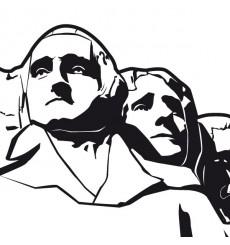 Sticker Mont Rushmore