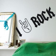 Sticker I love rock