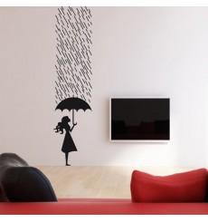Sticker Sous la pluie