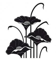 Sticker Fleurs art déco