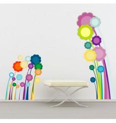 Sticker Fleurs disco