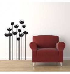 Sticker Fleurs modernes design