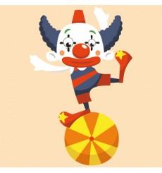 Sticker Clown équilibriste