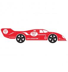 Sticker Voiture de course rouge
