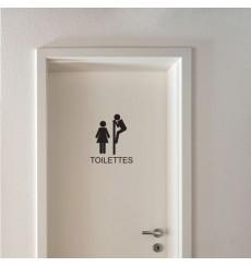 Sticker WC Signalétique toilettes
