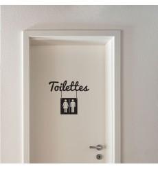 Sticker Toilettes mixte