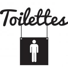 Sticker Toilettes homme