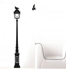 Sticker Sticker Oiseaux sur lampadaire