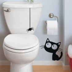 Sticker Sticker Chat et araignée