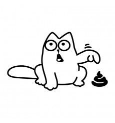 Sticker Sticker Drôle de chat