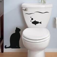 Sticker Sticker Poisson et chat