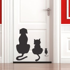 Sticker Sticker chien, chat et souris