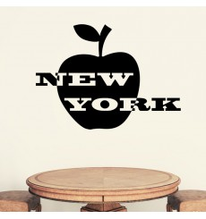 Sticker Sticker New York et pomme