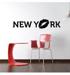 Sticker Sticker New York avec baiser
