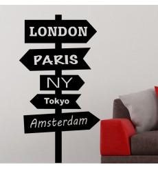 Sticker Sticker signe pour les villes du monde 1