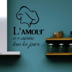 "Sticker Sticker ""L'amour ça se cuisine…"""