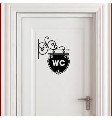 Sticker Sticker Plaque pour WC