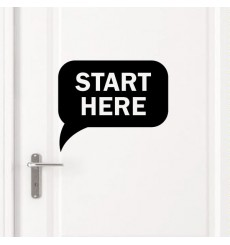 "Sticker Sticker porte ""Start Here"""