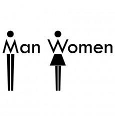 Sticker Sticker WC Man & Women