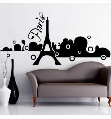 Sticker Sticker Paris dans la brume