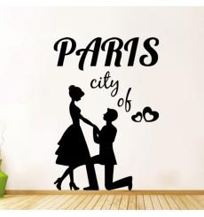 Sticker Sticker Paris ville de l'amour
