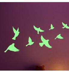 Sticker Sticker Phosphorescent oiseaux