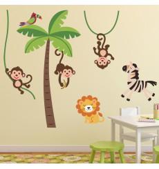 Sticker Stickers Animaux de la Jungle