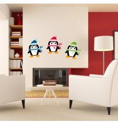 Sticker Sticker Pingouins de Noël