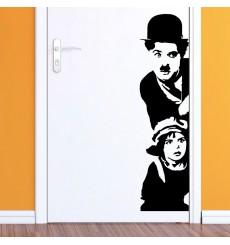 Sticker Sticker Charlie Chaplin et le gamin