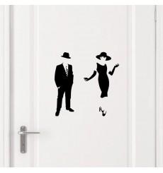 Sticker Sticker Picto Femme & Homme élégant