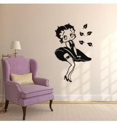 Sticker Sticker Betty Boop au printemps