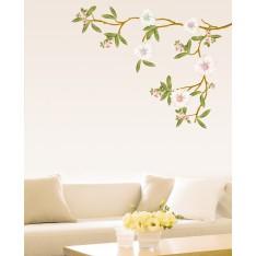 Sticker Sticker Arbre magnolia en fleurs