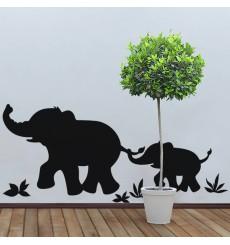 Sticker Sticker Marche d'éléphants