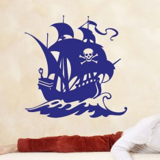 Sticker Sticker navire pirate