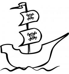 Sticker Sticker Bateau de pirate
