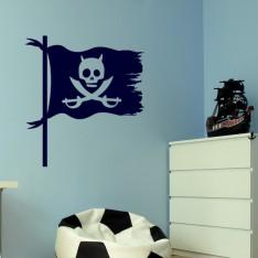 Sticker Sticker Design drapeau pirate