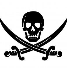 Sticker Sticker crâne et épées